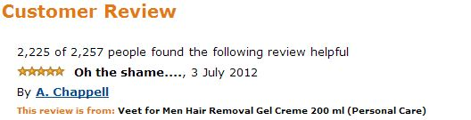 Veet for men hair removal amazon comment Oh the shame