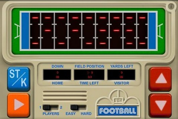 70b toys early hand held electronic football game