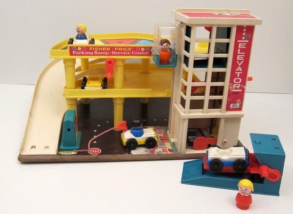 70b toys fisher price parking garage