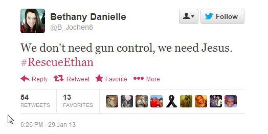 Bethany Danielle tweet