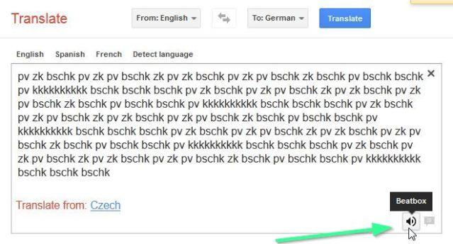Google translate beat box