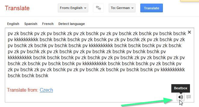 Google translate beat box