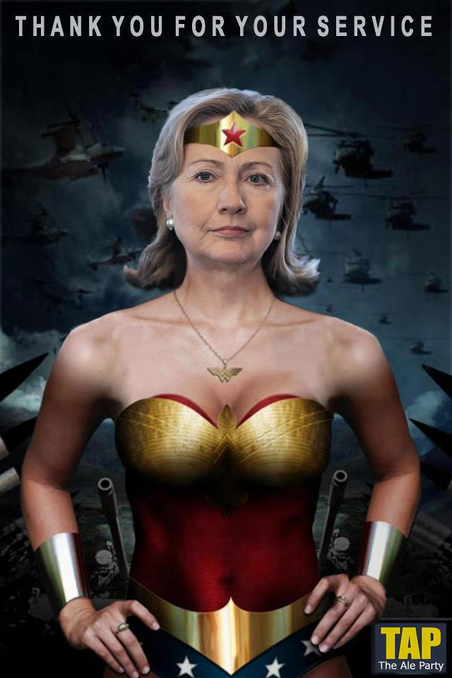 Hillary Clinton as Wonder Woman