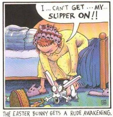 easter cartoon easter bunny slipper