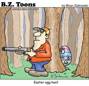 easter cartoon egg hunt