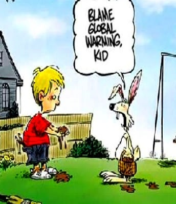 easter humor cartoon melted eggs global warming