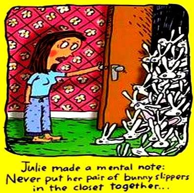 easter humor mental note slippers closet cartoon