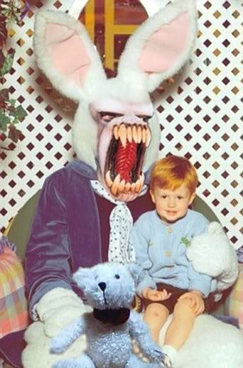 easter humor very scare easter bunny