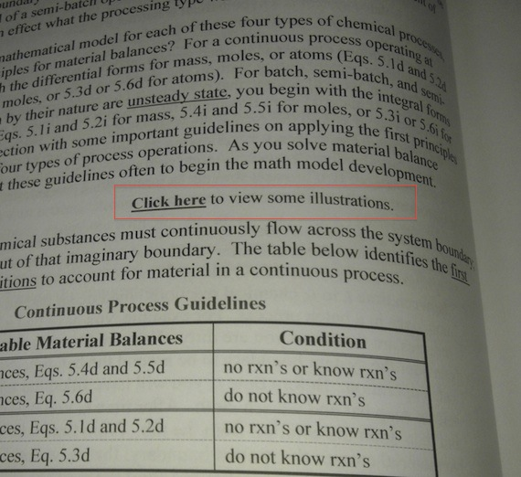Errors in text books_ hyperlink in paper textbook