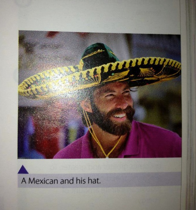 Errors in text books_ photo of a caucasian mexican and his hat
