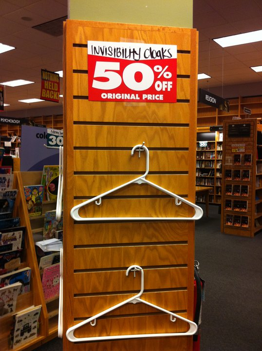 invisibility cloaks 50percent off