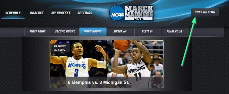 March Madness Boss Button