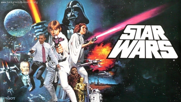 Obama Light Saber Ad Star Wars 2015