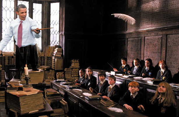 Obama Light Saber Harry Potter edition