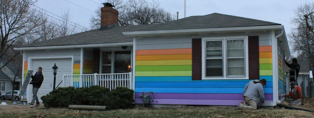 Rainbow Equality House painting 2