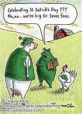St Patricks cartoon greeneggs