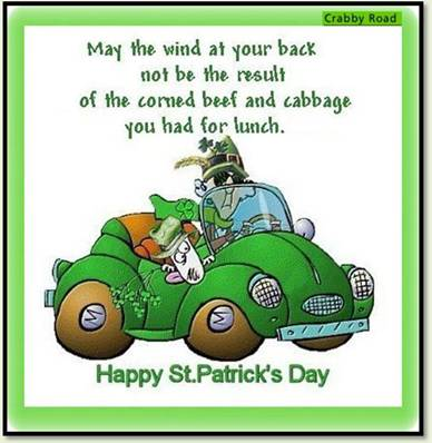 st patricks day cartoon may the wind at your back not be from the cabbage