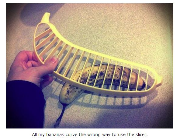 banana slicer curves the wrong way