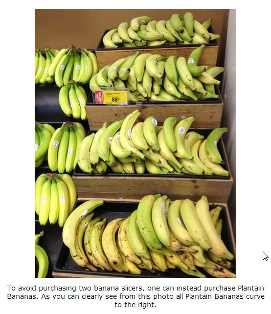 banana slicer Plantain bananas