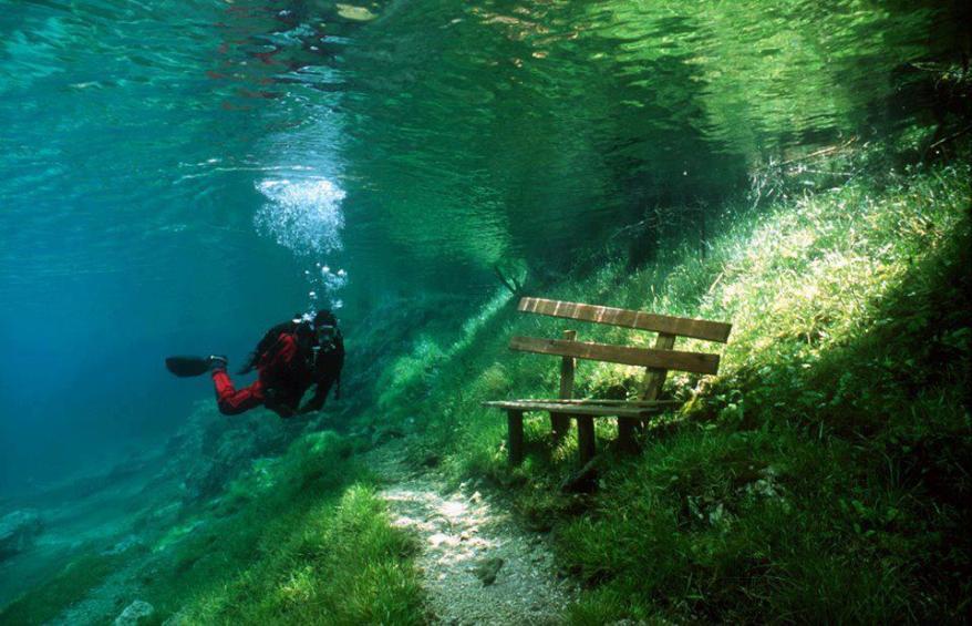 underwater park bench