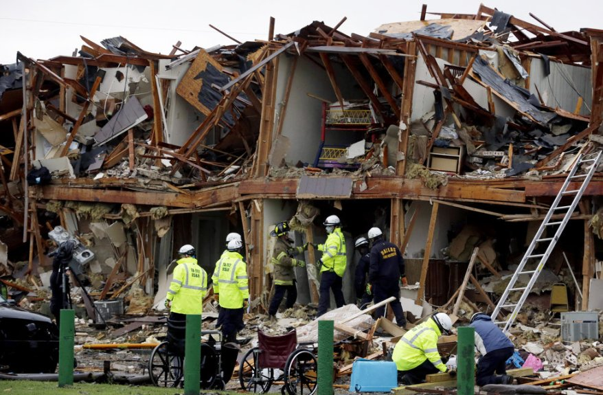 West TX fertilizer explosion 1 destroyed apartment