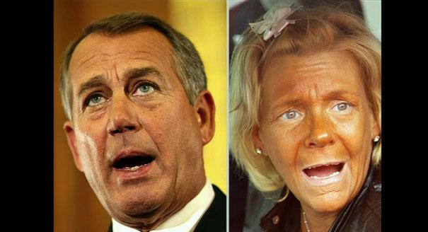 This was one of my favorites.... House Speaker John Boehner will be played by tan mom.