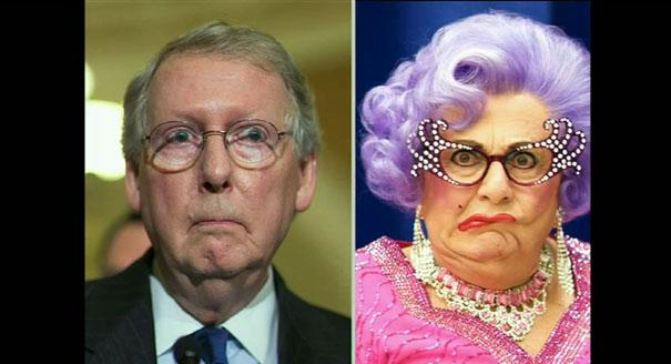 Senate Minority Leader Mitch McConnell will be played by Dame Edna.