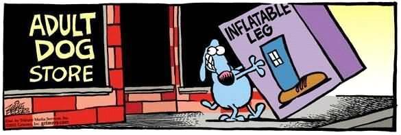 cartoon adult dog store inflatable leg