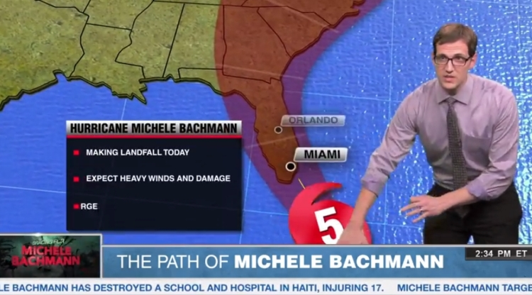 eye of Hurricane Michele Bachmann