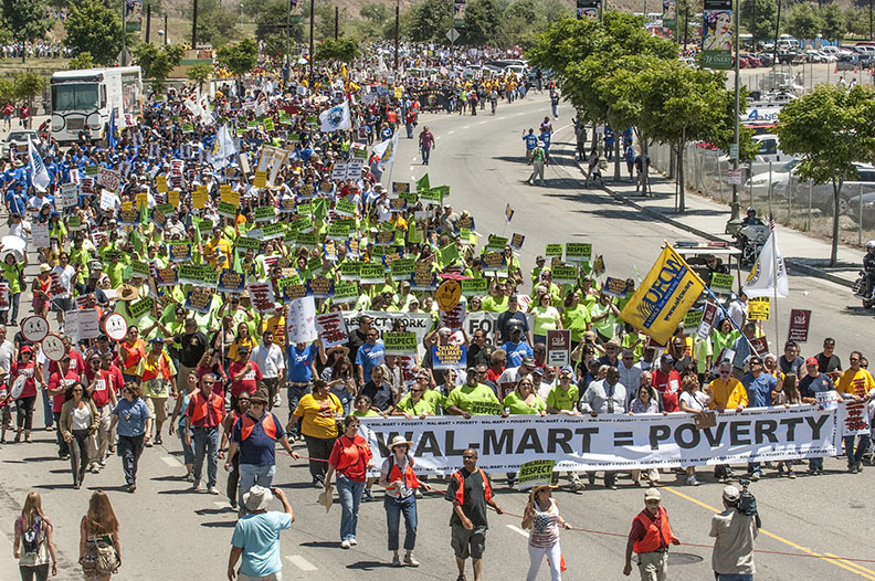 walmart equals poverty march