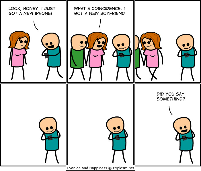 cyanide and happiness new iphone new boyfriend