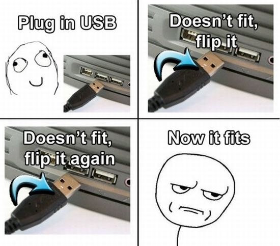 how to plug in usb humor