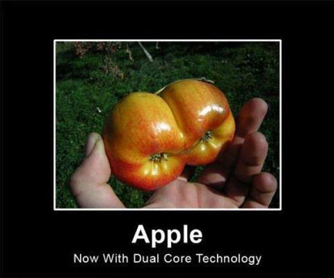 humor meme apple dual core