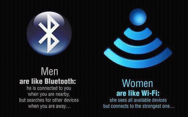 men like bluetooth women like wifi