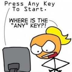 press any key to start cartoon where is any key