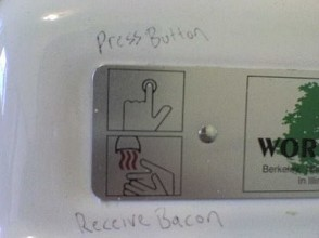 image instructions hand dryer looks like bacon