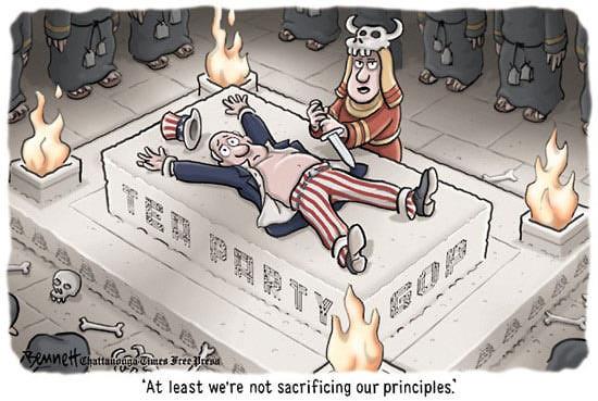 Tea-Party-Principles-political-cartoon-sacrifice-unclesam
