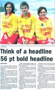 think of headline printing mistake