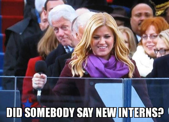 clinton-new-interns-photo