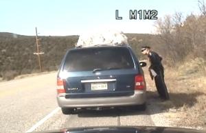 Officer talking to passenger
