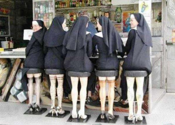 photos mess with mind nuns with legs