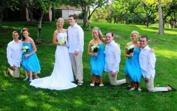 photos mess with mind short bridesmaids