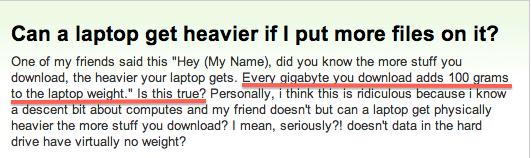 stupid internet question_more downloads make computer heavier