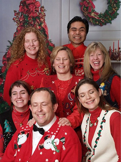 bad family christmas photo eyes closed