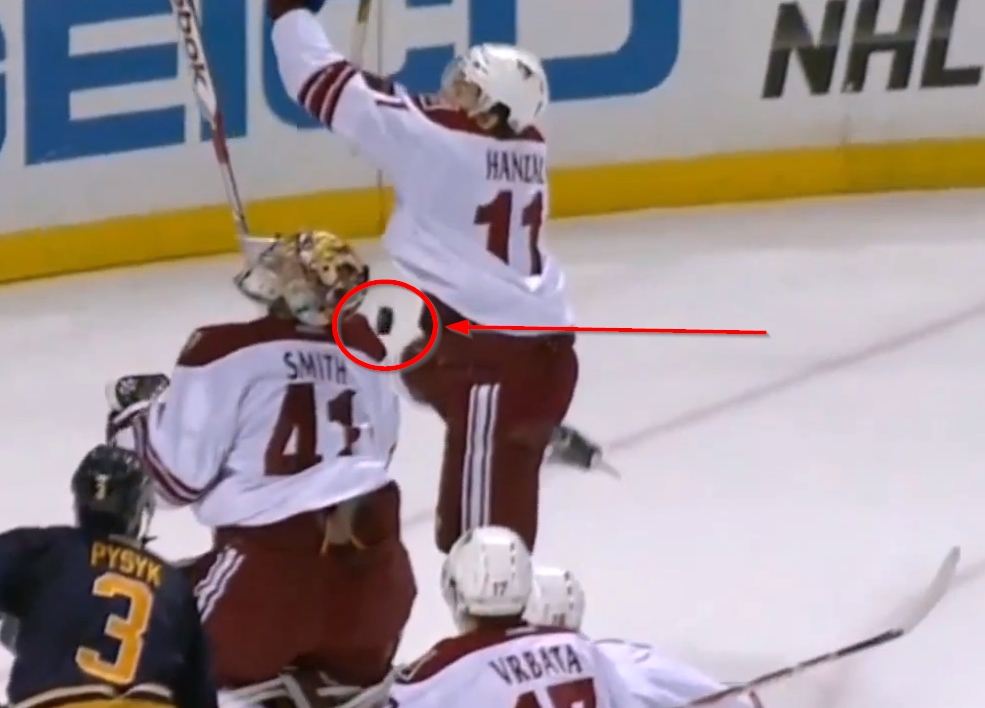 Coyote-Mike-Smith-puck-in-pants-0
