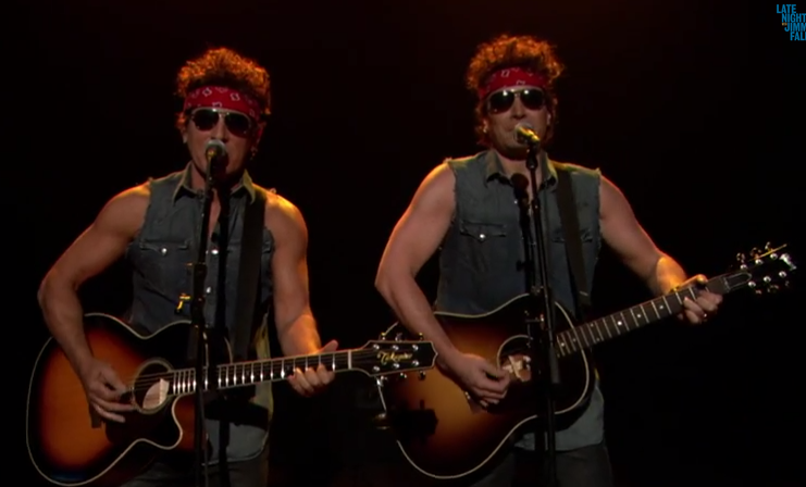 Springsteen-Jimmy Fallon-Gov. Christie Traffic Jam-Born To Run
