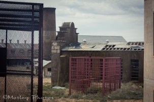 Cage for segregated inmate's outside time.