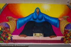 Mural in the chow hall.