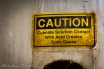 Caution sign on the cyanide gas chamber.