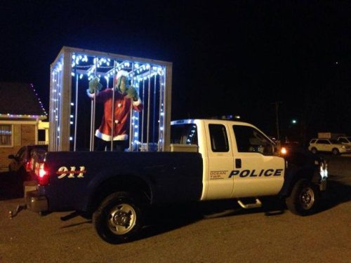 The Grinch has been captured by the police.